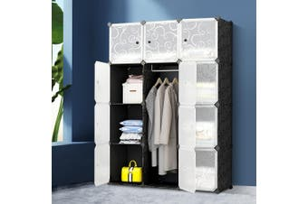 Artiss Cube Storage Cabinet 12 Cubes DIY Shelves Cupboard Wardrobe Shoe Shelf Rack