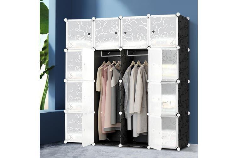Artiss Cube Storage Cabinet DIY 16 Cubes Shoe Rack Wardrobe Shelves Shelf Compartment