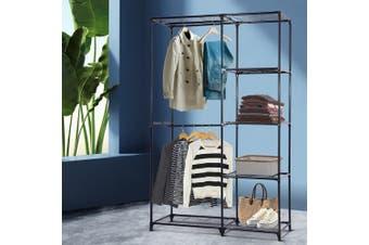 Portable Closet Organiser Storage Rack Clothes Hanger Rail Garment Shelf Rack BK