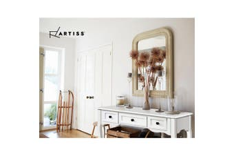 Artiss Hall Console Table Hallway Side Entry Timber Wooden French 3 Drawer White