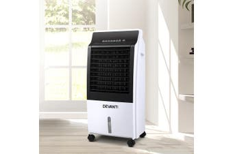 Devanti Portable Evaporative Air Cooler Fan Cooling Remote Control LED Display