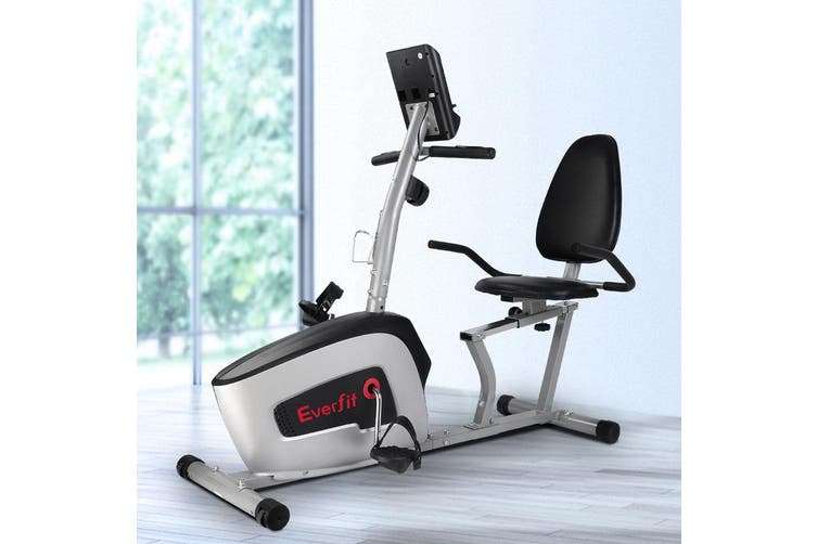 Everfit Magnetic Recumbent Exercise Bike Fitness Cycle Trainer with LCD Display