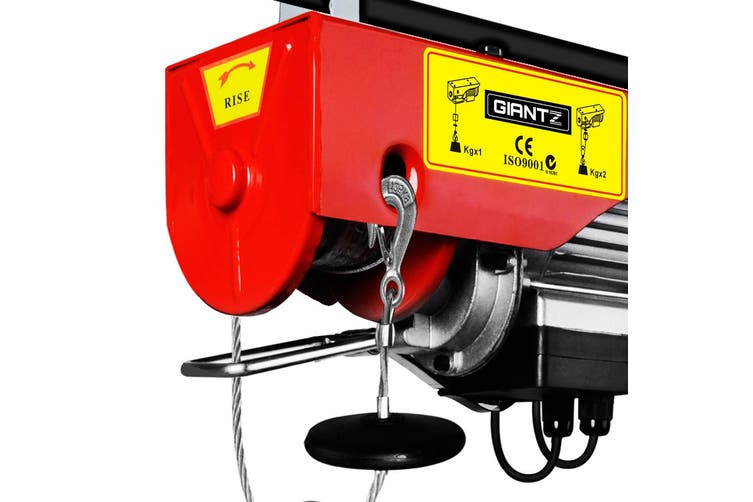 Giantz Electric Hoist Winch 125/250KG Rope Tool Remote Chain Lifting Cable 18M