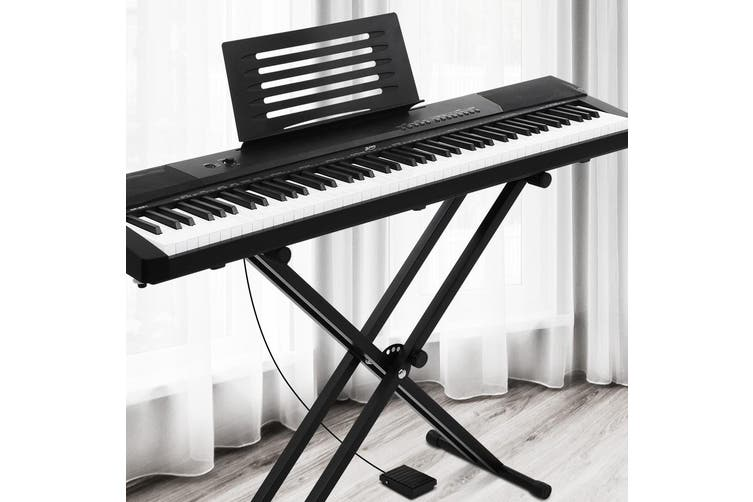 Alpha 88 Keys Electronic Piano Keyboard Electric Holder Music Stand Touch Sensitive w/ Sustain pedal