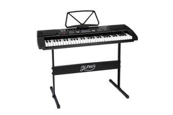 Alpha 61 Keys Electronic Piano Keyboard LED Electric Music Stand Adaptor