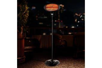 Devanti 2000W Electric Outdoor Patio Heater Radiant Portable Pedestal Heat Bar