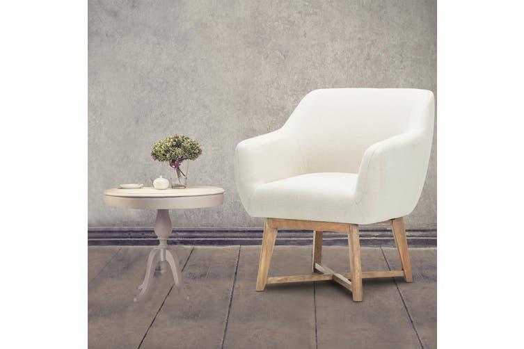 Artiss Tub Chair Armchair Solid Lounge Armchairs Single Sofa Accent Fabric Retro