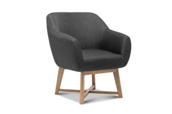 Artiss Aston Armchair - Charcoal