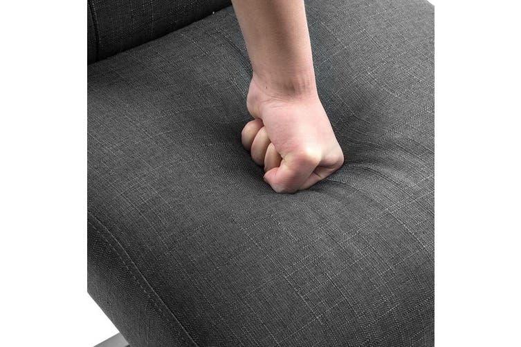 Artiss 2x Bar Stools Bar Stool Rubber Wood Fabric Chair Timber Dining Charcoal