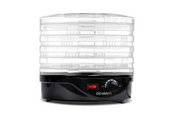 Devanti 5 Trays Food Dehydrators Beef Jerky Dehydrator Fruit Dryer Maker Black