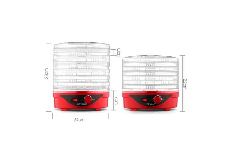 Devanti 7 Trays Food Dehydrators Jerky Dehydrator Dryer Maker Fruit Preserver RD