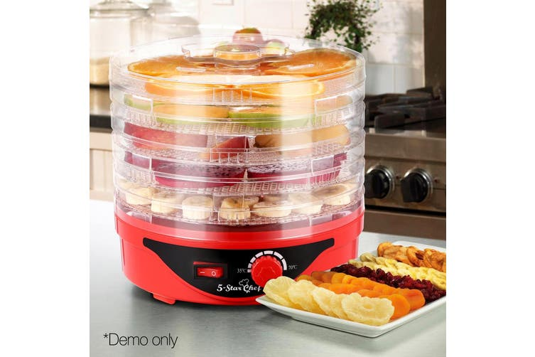 Devanti 5 Trays Food Dehydrators Beef Jerky Dehydrator Fruit Maker Preserver RD