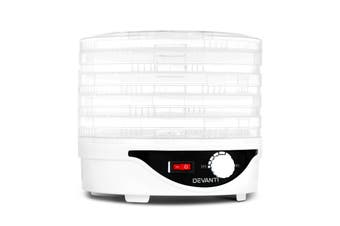 Devanti 5 Trays Food Dehydrator Beef Jerky Dehydrators Fruit Dryer Maker White