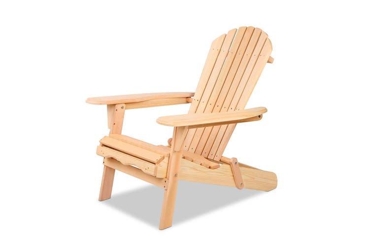 Gardeon Outdoor Chairs Patio Furniture Wooden Sun Lounge Beach Adirondack Garden