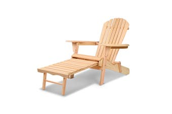 Gardeon Outdoor Beach Chairs Patio Furniture Sun Lounge Wooden Adirondack Garden