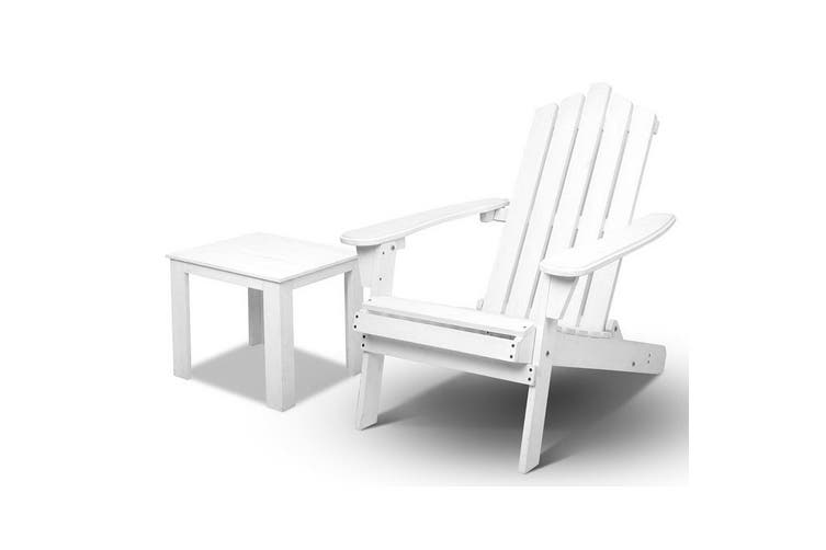 Gardeon Outdoor Furniture Chairs Table Set Beach Chair Wooden Patio Adirondack