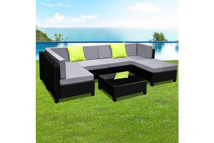 Gardeon Outdoor Lounge Setting Furniture Sofa Set Wicker Rattan Patio Garden 7PC