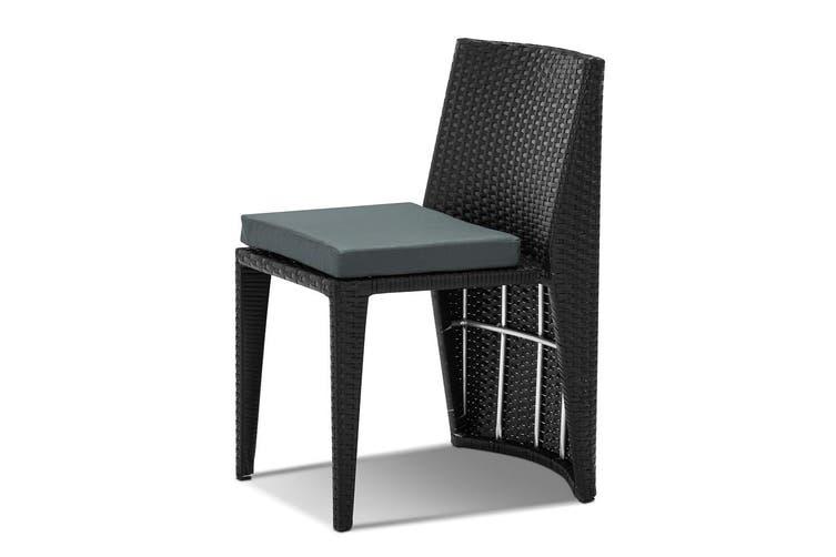 Gardeon Outdoor Setting Wicker Table Chairs 3 Piece Bistro Set Patio Furniture