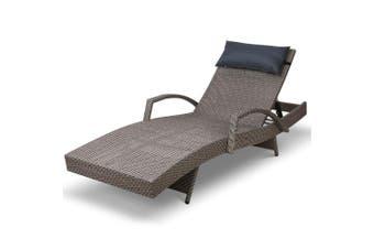 Gardeon Outdoor Sun Lounge Furniture Setting Rattan Wicker Day Bed Garden Patio