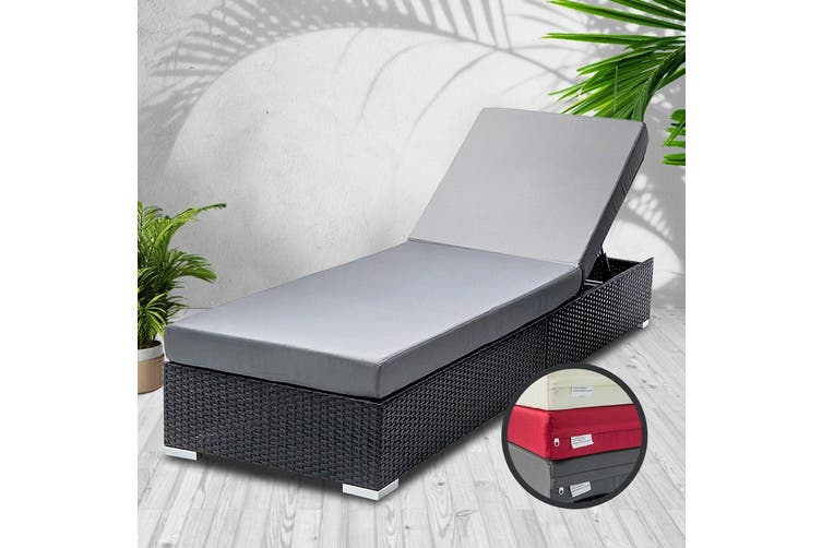 Gardeon Sun Lounge Outdoor Furniture Day Bed Wicker Rattan Garden Sofa