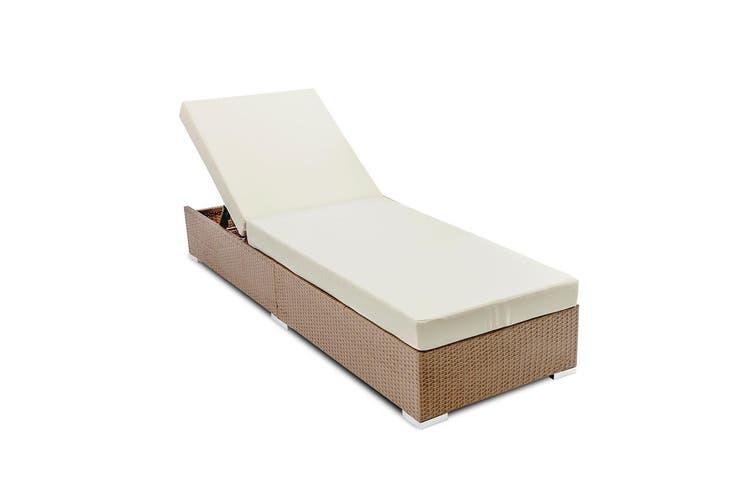 Gardeon Sun Lounge Setting Outdoor Furniture Day Bed Rattan Wicker Garden Patio