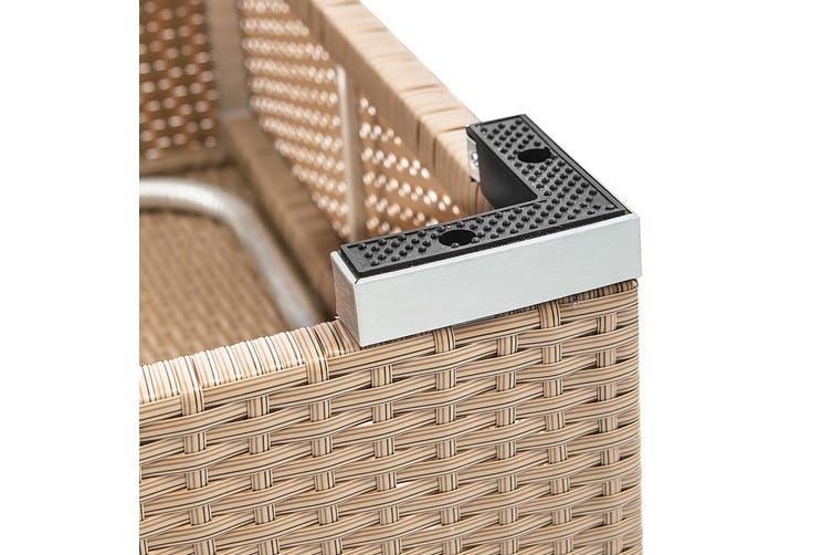 Gardeon Sun Lounge Outdoor Setting Patio Furniture 3 Covers Set Wicker Recliner