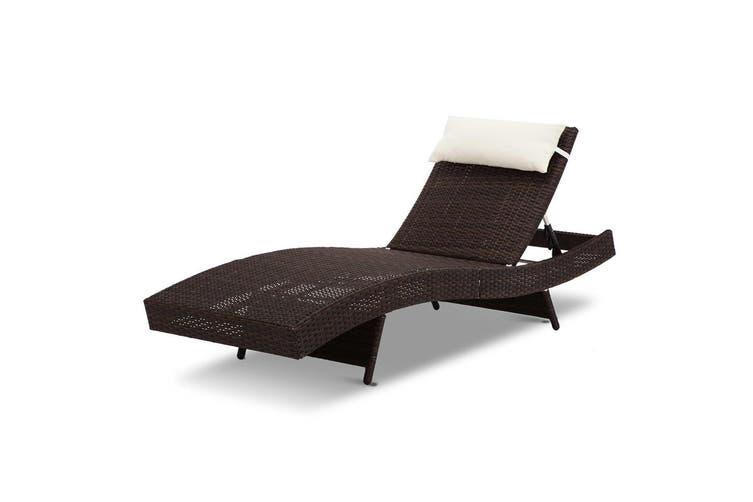 Gardeon Sun Lounge Outdoor Furniture Setting Wicker Day Bed Rattan Garden Patio