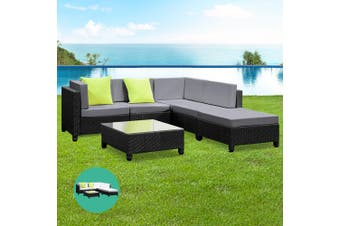 Gardeon Wicker Outdoor Lounge Setting Sofa Set Patio Furniture Garden Rattan