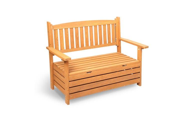 Gardeon Outdoor Storage Bench Box Wooden Garden Chair Seat Timber Furniture