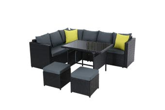 Gardeon Outdoor Furniture Patio Set Dining Sofa Table Chair Lounge Wicker Garden