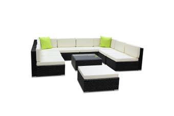 Gardeon 10 Piece Outdoor Furniture Set Wicker Sofa Lounge