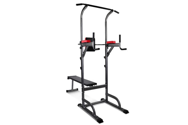 Everfit Power Tower Pull Up Multi Station Chin Up Weight Bench Benches Home Gym