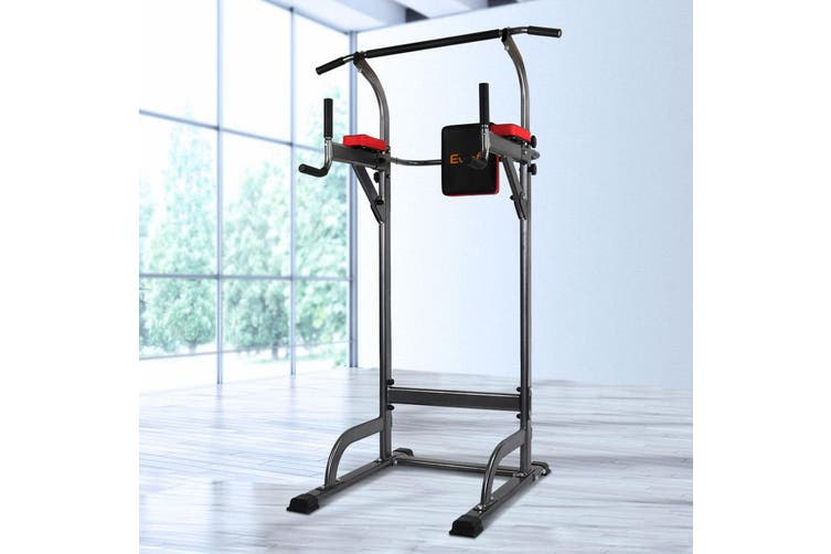 Everfit Knee Raise Power Tower Chin Up Push Pull Dip Gym Station Weight Bench
