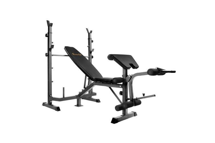 Everfit 9 in 1 Weight Bench Press Multi-Station Fitness Equipment Flat Benches