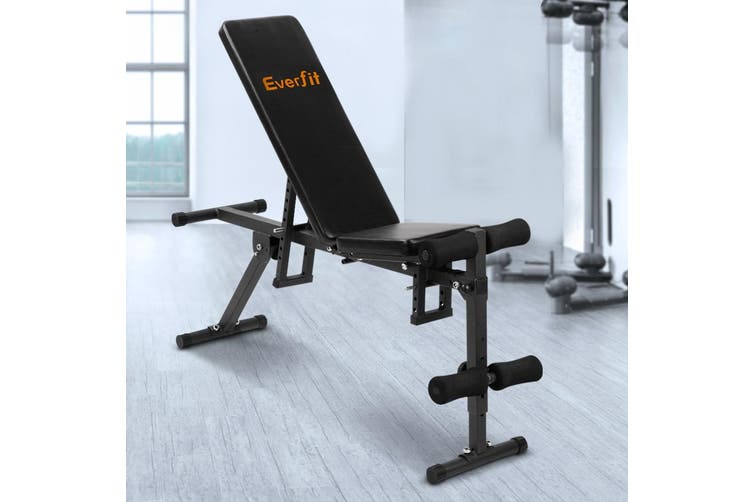 Everfit Adjustable Weight FID Bench Fitness Flat Incline Decline Press Gym Home