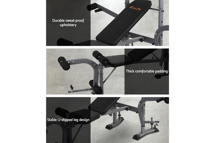 Everfit 7in1  Weight Bench Press Multi-Station Fitness Weights Equipment Incline