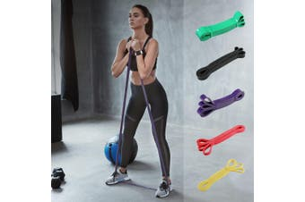 5pcs Set Resistance Bands Loop Gym Fitness Exercise Yoga Training Booty Band
