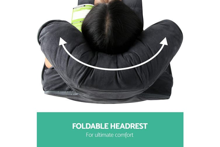 Artiss Lounge Sofa Floor Armchair Folding Chaise Chair Adjustable Recliner