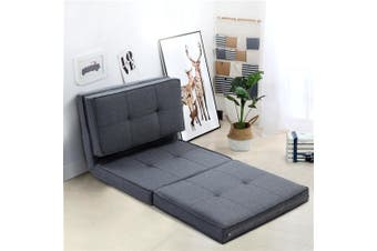 Artiss Floor Sofa Lounge Folding Chair Futon Couch Legless Seat Dark Grey