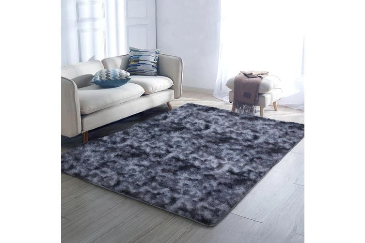 Artiss Gradient Shaggy Rug 160x230cm Large Floor Carpet Soft Area Rugs Bedroom Dark Grey For Living Room