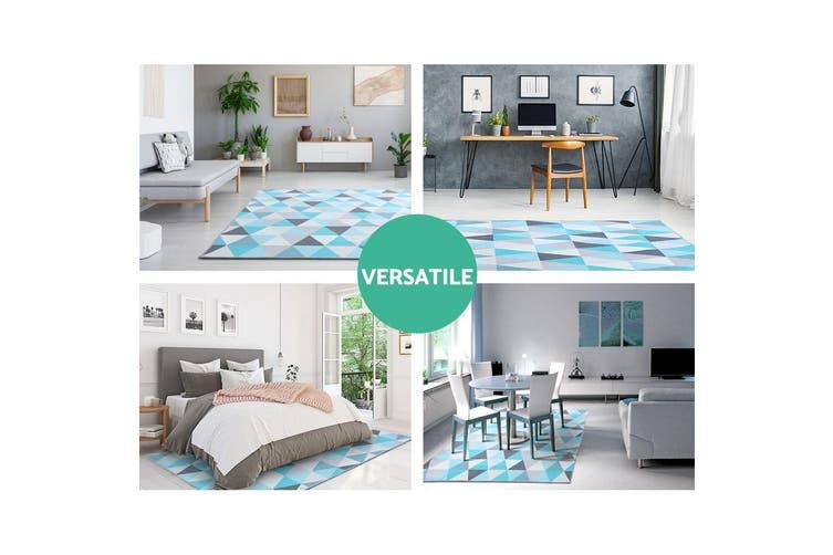 Artiss Premium Short Pile Floor Rug 160x230 Area Rugs Large Modern Carpet Soft Bedroom For Living Room Bedroom