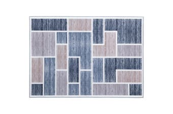Artiss Premium Floor Rugs 120x170 Short Pile Area Rug Large Contemporary Modern Carpet Soft Grey For Living Room Bedroom