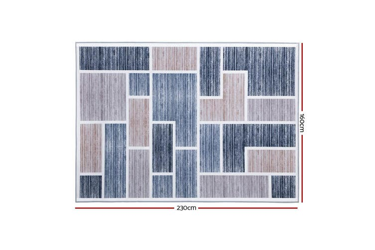 Artiss Premium Short Pile Floor Rug 160x230 Area Rugs Large Contemporary Modern Carpet Soft Grey For Living Room Bedroom