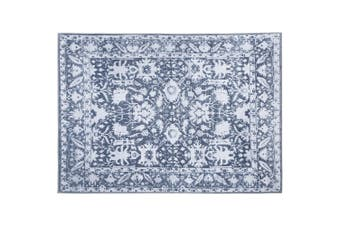 Artiss Premium Short Pile Floor Rug 120x170 Area Rugs Large Vintage Mid Century Carpet Soft Blue For Living Room Bedroom
