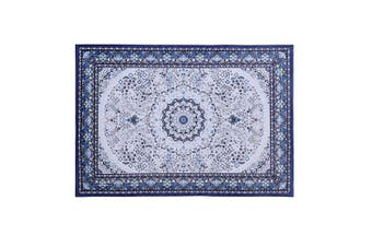 Artiss Premium Short Pile Floor Rug 120x170cm Area Rugs Large Modern Carpet Soft Blue For Living Room Bedroom
