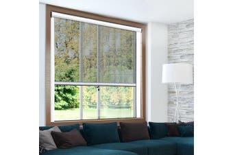 Instahut Fly Screen Retractable Window Screens Flyscreen 1.5m x 1.5m Net Mosquito Mesh DIY White