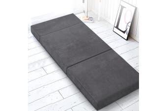 Giselle Bedding Folding Foam Mattress Portable Sofa Bed Mat Lounge Velvet