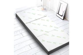 Giselle Bedding Folding Foam Mattress Portable Sofa Bed Mat Lounge Bamboo