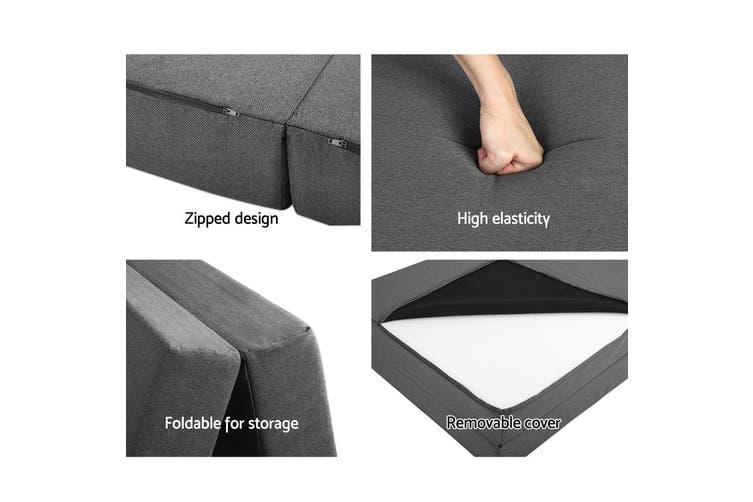 Giselle Bedding Folding Foam Mattress Portable Sofa Bed Mat Lounge Fabric