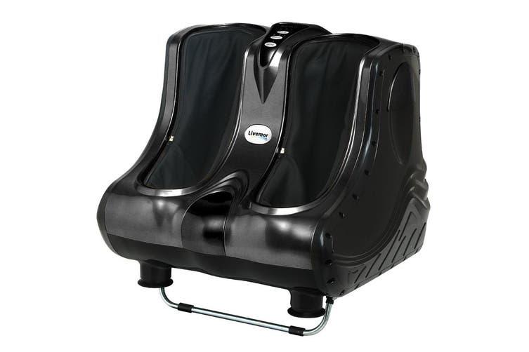 Livemor Foot Massager Ankle Calf Leg Massagers Shiatsu Kneading Rolling Black